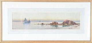 Alfred Thompson Bricher (1837-1908) American, W/C
