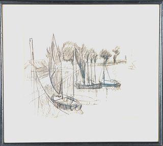 Richard Haley Lever (1876-1958) American, Drawing
