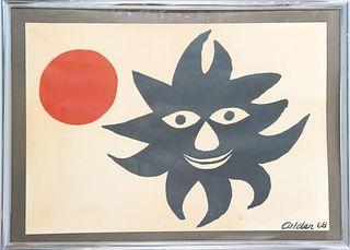 Alexander Calder (1898-1976) Red Sun, Lithograph