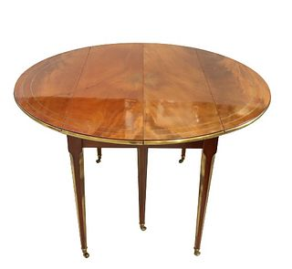 Exquisite Cuban Mahogany Drop-Leaf Dining Table