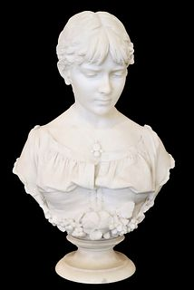Prof. Andrei Cambi (19th C.) Italian, Marble Bust
