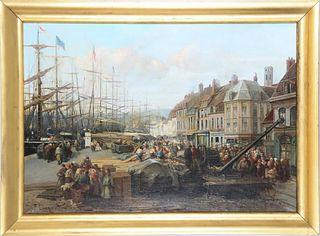 Paul Ling (19th C) Dutch, Oil on Canvas