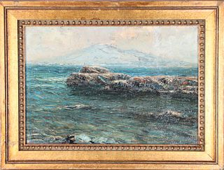 Oil on Board of Alaska, Early 20th C. Signed