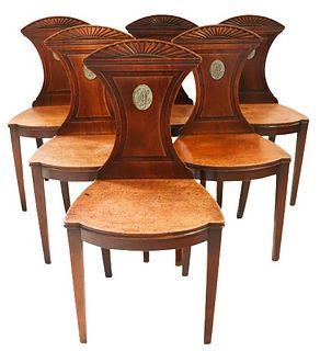 Antique Mahogany Regency Stylized Chairs