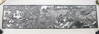 Contemporary Black & White Chinese Scroll
