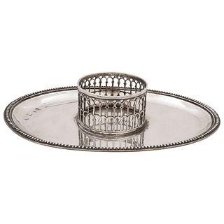 MANCERINA  ESPAÑA, SIGLO XIX   En plata española Detalles de conservación 15 x 21.2 cm | TREMBLEUSE SPAIN, 19TH CENTURY In Spanish silver Conservation
