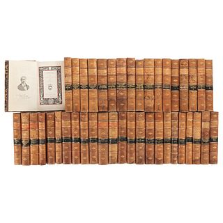 BIBLIOTECA DE AUTORES MEXICANOS. MÉXICO: IMP. DE V. AGÜEROS, EDITOR, 1896 - 1902. Tomos 1 - 29, 31 - 33, 35 - 43. Piezas: 42,   LIBRARY OF MEXICAN AUT