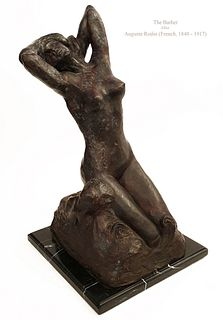 THE BATHER, A Large Post Auguste Rodin Bronze Sculpture