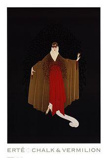 Place De L'Opera, A Large ERTE Lithograph Poster, 1993