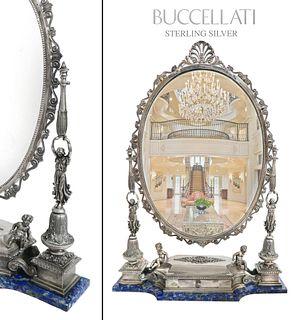 Buccellati Sterling Silver/Lapis Lazuli Figural Mirror