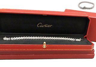 A Fine Cartier Diamond Platinum Bracelet, 16 TO 17 CTS