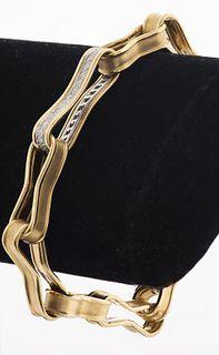 Angela Cummings 18K Yellow Gold Diamond Bracelet