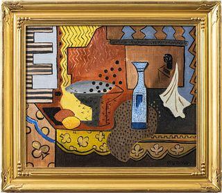 "Charles Evans ""Still Life"" Oil on Canvas"