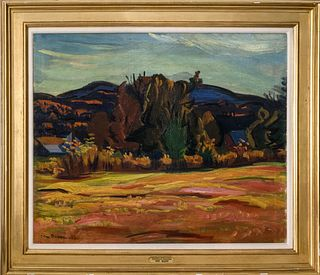 "Ben Benn ""Mountainous Landscape"" Oil on Canvas"