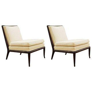 Robsjohn-Gibbings For Widdicomb Slipper Chairs, Pr