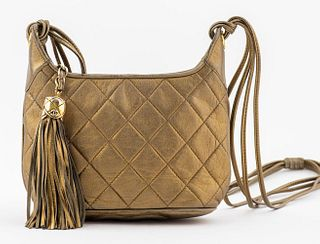 Chanel Gold-Tone Metallic Leather Handbag