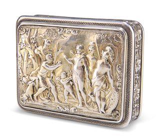 A GEORGE III SILVER-GILT SNUFF BOX, by?Joseph Ash I, London 1809,?rectangul