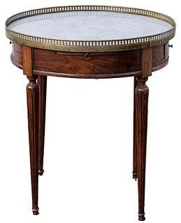 Louis XVI Style Mahogany And Marble Gueridon