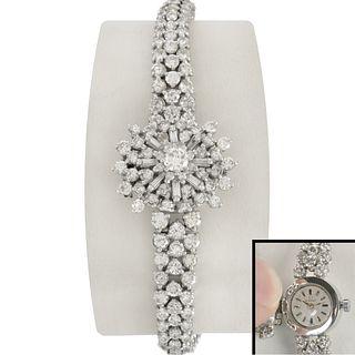 Omega Diamond and Platinum Watch