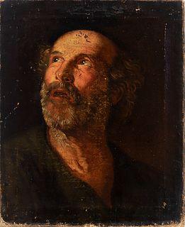 "Circle of JUAN RIBALTA (Madrid, c. 1596-Valencia, 1628). ""San Pedro"". Oil on canvas."