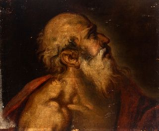 """Spanish school; second half of the 17th century. """"Saint Jerome"""". Oil on canvas. Relined."""