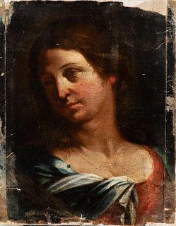 "Circle of GIOVANNI FRANCESCO BARBIERI ""IL GUERCINO"" (Italy, 1591-1666) ""Saint"". Oil on canvas. Relined."