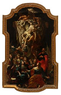"""Italian school; second half of the 18th century. """"Descent from the Cross"""". Oil on canvas."""