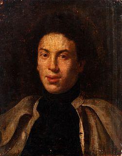 "Italian school; mid-18th century. ""Portrait of a gentleman. Oil on canvas. Relined"