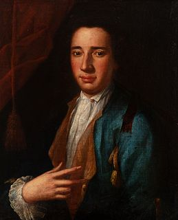 """Italian school; third quarter of the 18th century. """"Portrait of a gentleman. Oil on canvas. Relined"""