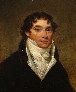 "English school; circa 1810. ""Portrait of a Gentleman, Oil on panel."
