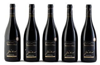 Five Trinity Hill by John Hancock bottles, 2004 vintage. Trinity Hill Limited Winery. Category: Syrah red wine. Hastings (New Zealand). Level: A. 750