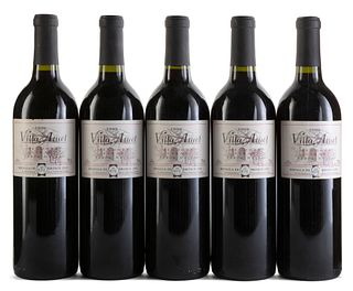 Five Viña Atuel Finca Norte 1999 bottles. Category: red wine. Mendoza Argentina. Bronze medal 2000 from the International Wine Challenge- London. Leve