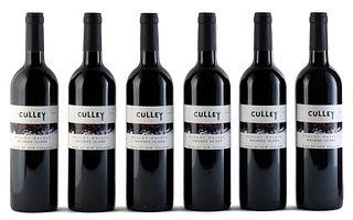 Six Culley Waiheke Island bottles, vintage 2004. Neill Culley Winemaker. Category: red wine. Auckland (New Zealand). Level: A. 750 ml.