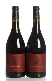 Two bottles Brookfields Hillside Syra, 2005 vintage. Brookfields Vineyards. Category: red wine. Napier, Howkes bay (New Zealand). Level: A.