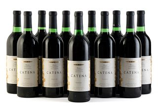 Twelve Catena Reserve Cabernet Sauvignon bottles, 1991 vintage. Bodegas Esmeralda Category: red wine. Junín, Mendoza(Argentina). Level: B/C/D. 750 ml.