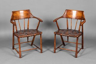 Manner of Wharton Esherick, Two Captain's Chairs