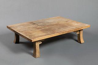 Japan, Carved Cedar Low Table