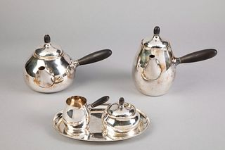 Georg Jensen, Sterling Silver Tea and Coffee Service, ca. 1915-1930