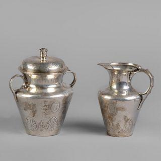 Tiffany & Company, Sterling Silver Creamer and Sugar Set, ca. 1860