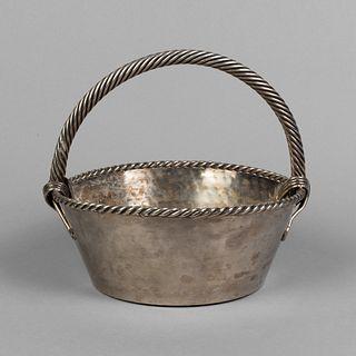 Jean Despres, Silverplate Bread Basket