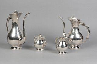 After Miyata, Modernist Silverplate Tea and Coffee Service, ca. 1960