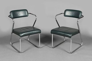 Gilbert Rohde for Troy Sunshade, Pair of Z Chairs, ca. 1930