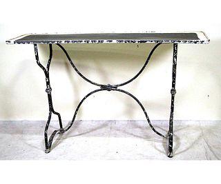 VINTAGE METAL CONSOLE TABLE