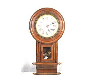19th CENTURY REGULATION WALL CLOCK