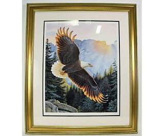 """LEE CABLE """"MORNING MAJESTY PENCIL SIGNED PRINT"""