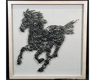 STEED'S SILHOUETTE IN SHADOW BOX