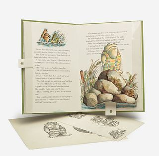 [Children's & Illustrated] Lobel, Arnold Sketches for The Frog and Toad Pop-Up Book