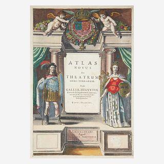 [Maps & Atlases] [Janssonius, Johannes] Atlas novus sive theatrum orbis terrarum: in quo Galliae, Helvetiae universae & siugulorum cantonum; nec non &