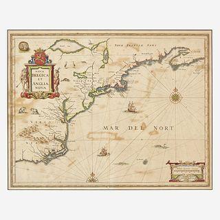 [Maps & Atlases] Janssonius, Johannes Nova Belgica et Anglia Nova