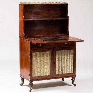 Regency Inlaid Mahogany Chiffonnier/Writing Desk
